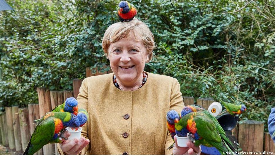 Άνγκελα Μέρκελ - πάρκο πτηνών
