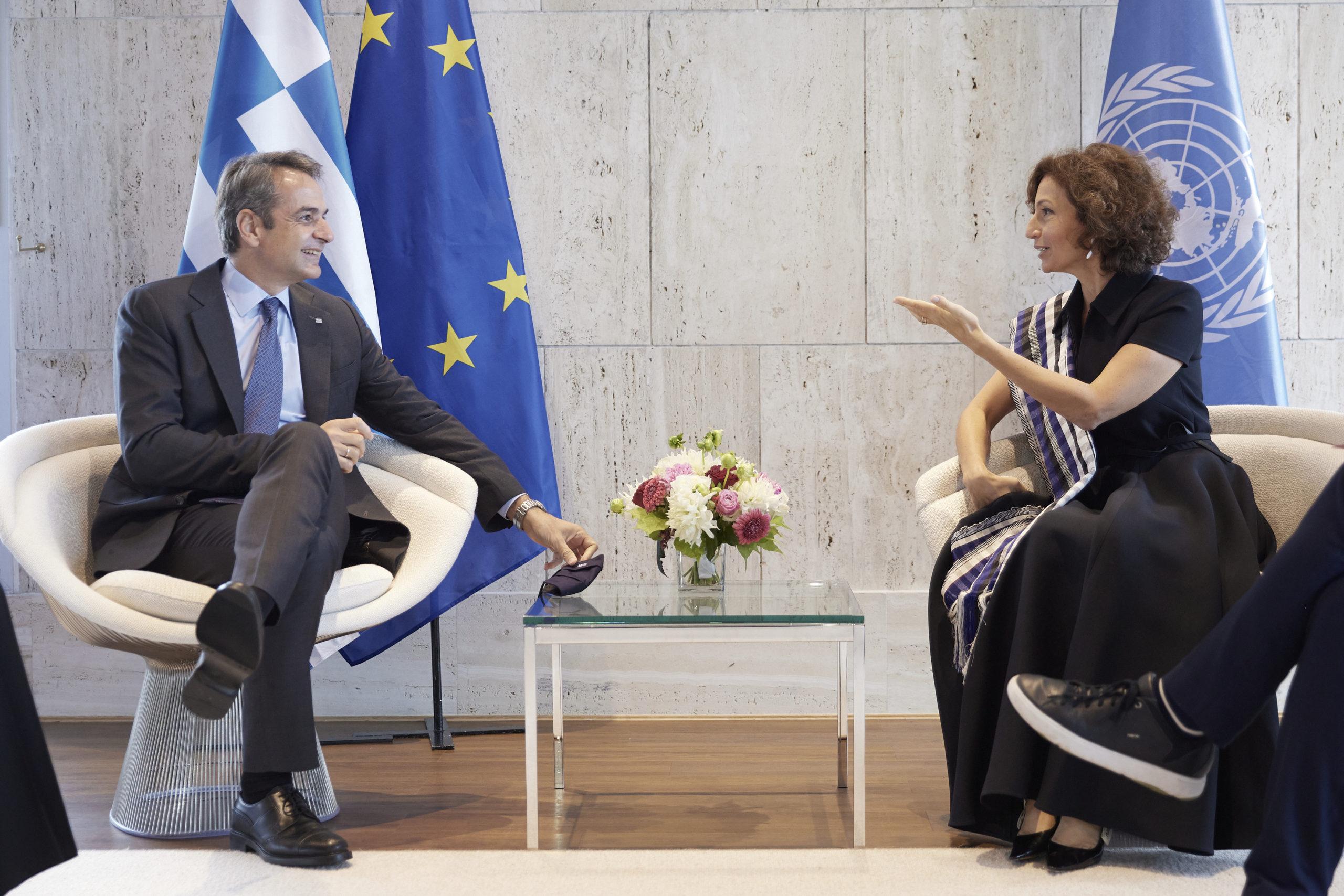 Κυριάκος Μητσοτάκης Audrey Azoulay