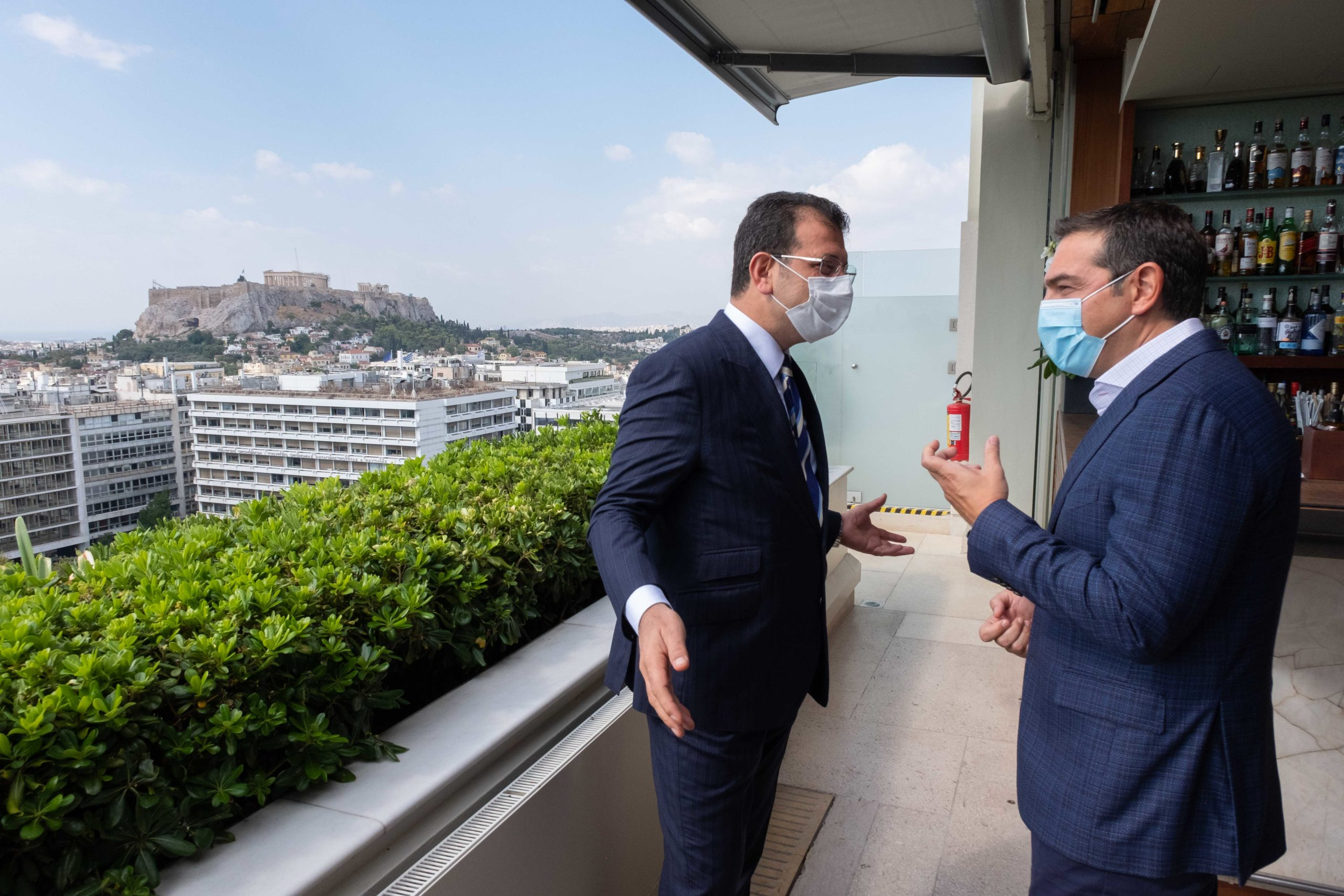 Ο Αλέξης Τσίπρας και ο δήμαρχος Κωνσταντινούπολης, Εκρέμ Ιμάμογλου