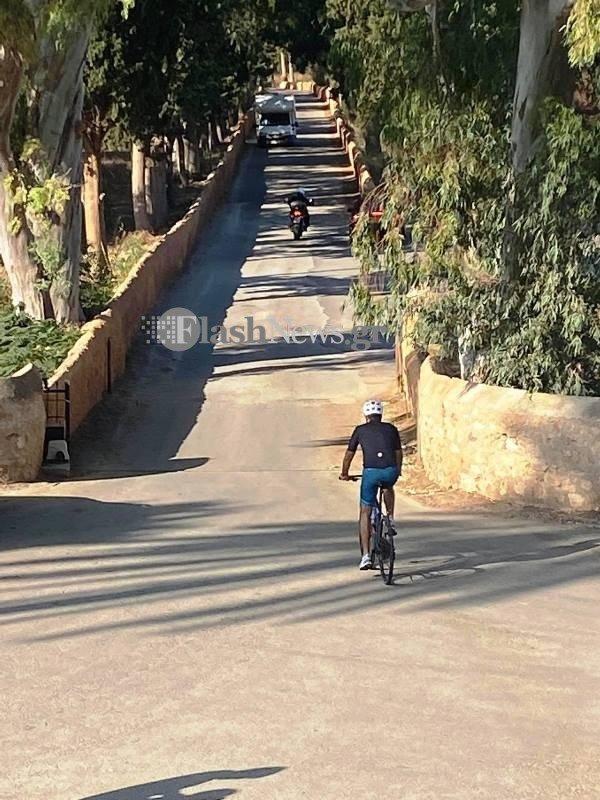 Μητσοτάκης ποδήλατο Χανιά